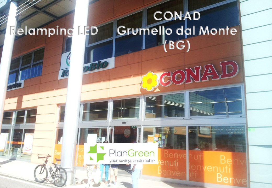 Conad Grumello – Relamping Led