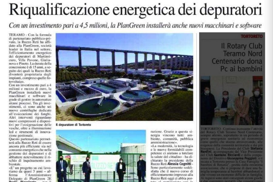 Riqualificazione Energetica dei Depuratori – La Città – Marzo 2021