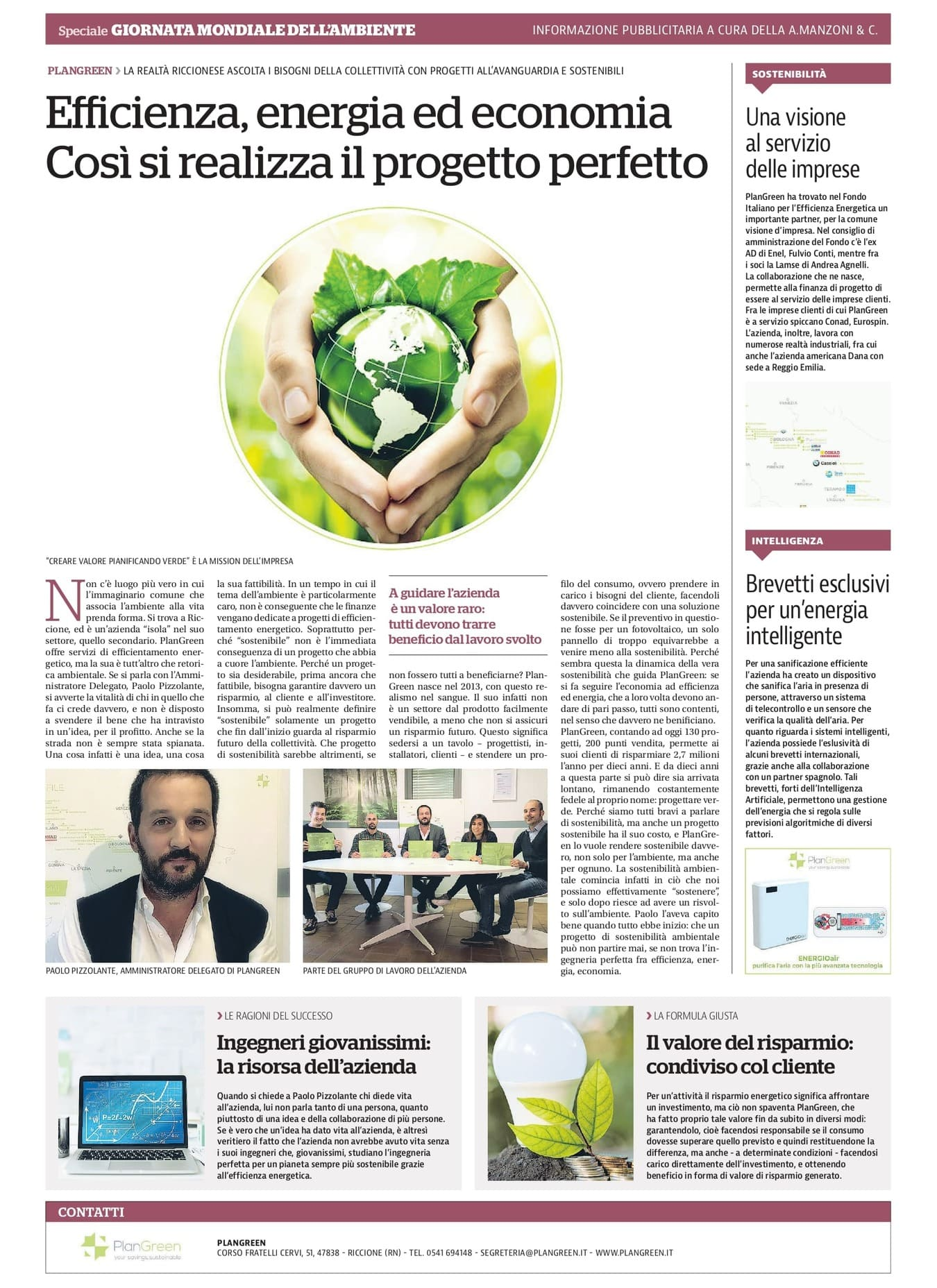 Plan Green - Intervista su Repubblica 5 giugno 2021